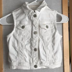 GAP white cotton denim kids vest excellent condish